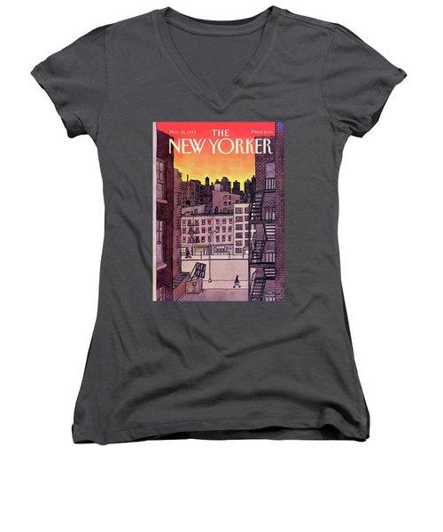 New Yorker November 25th, 1985 Women's V-Neck