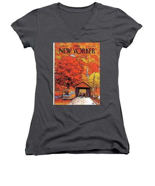 New Yorker October 19th, 1981 Women's V-Neck