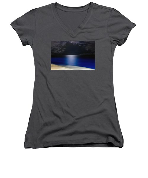 Night And Water Women's V-Neck T-Shirt (Junior Cut) by Hanny Heim