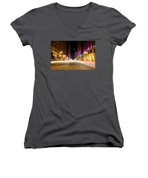 Night Life Women's V-Neck