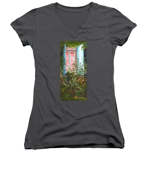 Night Light Women's V-Neck T-Shirt