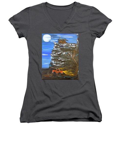 Night Shack Women's V-Neck T-Shirt