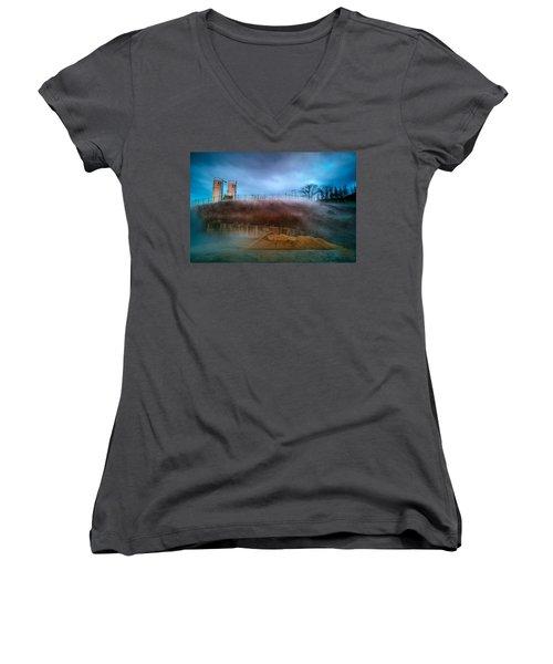 Nitrogen Fog Women's V-Neck T-Shirt
