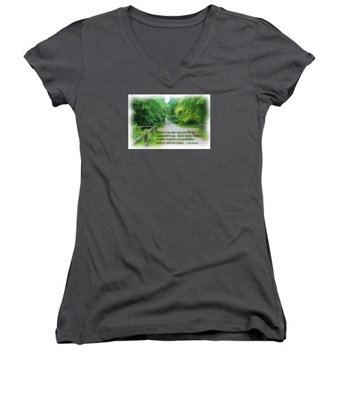 No One Way Women's V-Neck (Athletic Fit)