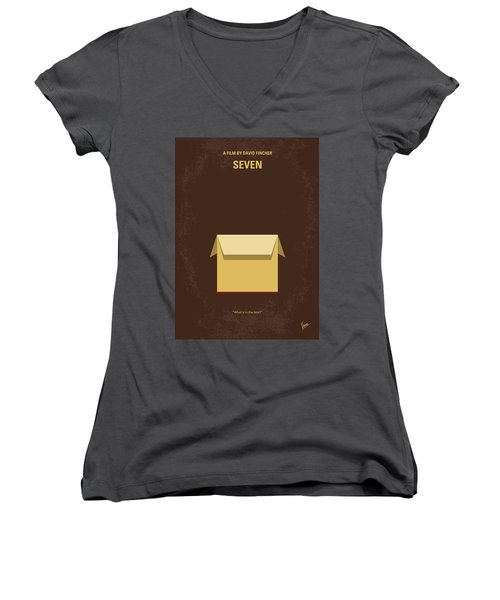 No233 My Seven Minimal Movie Poster Women's V-Neck
