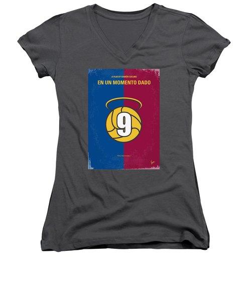 No272 My En Un Momento Dado Minimal Movie Poster Women's V-Neck T-Shirt (Junior Cut) by Chungkong Art