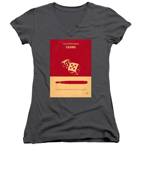 No348 My Casino Minimal Movie Poster Women's V-Neck