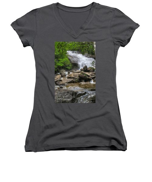 North Carolina Waterfall Women's V-Neck