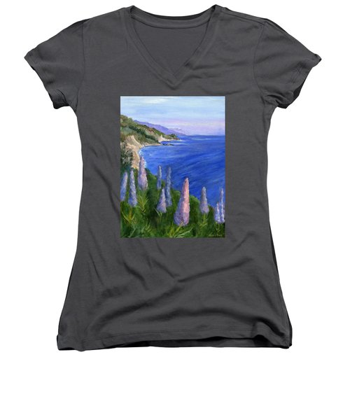 Northern California Cliffs Women's V-Neck T-Shirt