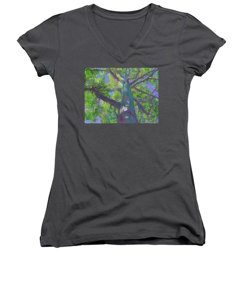 Oak Tree 1 Women's V-Neck