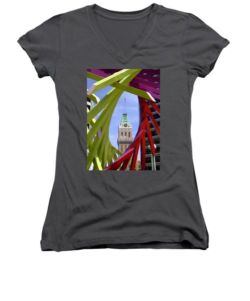Oakland Tribune Women's V-Neck (Athletic Fit)