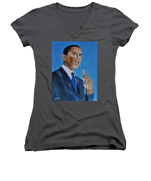 Obama Women's V-Neck T-Shirt