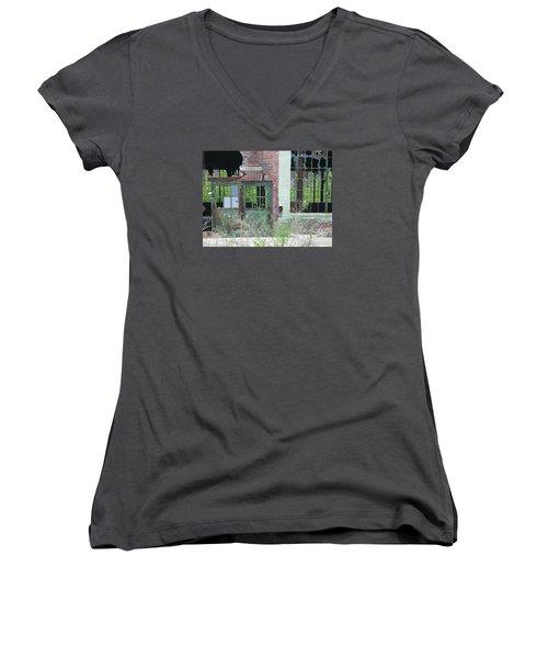 Women's V-Neck T-Shirt (Junior Cut) featuring the photograph Obsolete by Ann Horn