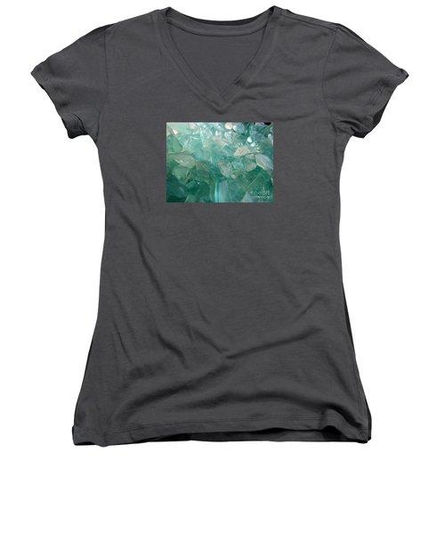 Women's V-Neck T-Shirt (Junior Cut) featuring the photograph Ocean Dream by Kristine Nora
