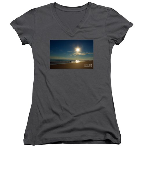 Ocean Isle Beach Sunshine Women's V-Neck T-Shirt