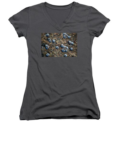 Women's V-Neck T-Shirt featuring the photograph Ocean's Quilt by Christiane Hellner-OBrien