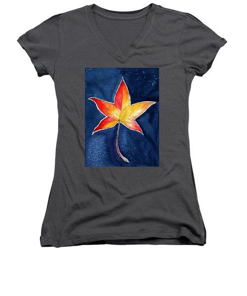 October Night Women's V-Neck T-Shirt