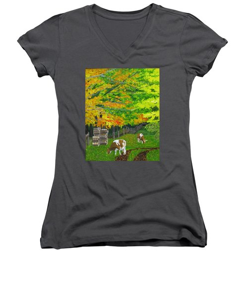 October Pasture Women's V-Neck (Athletic Fit)