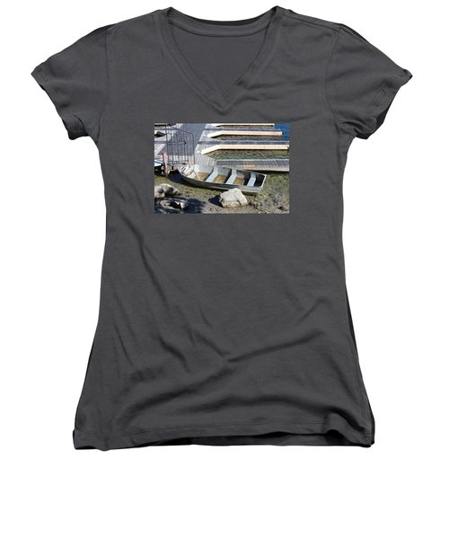 Old Boat And Dock Women's V-Neck (Athletic Fit)
