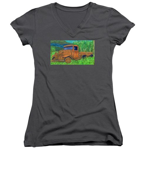 Old Canadian Truck Women's V-Neck