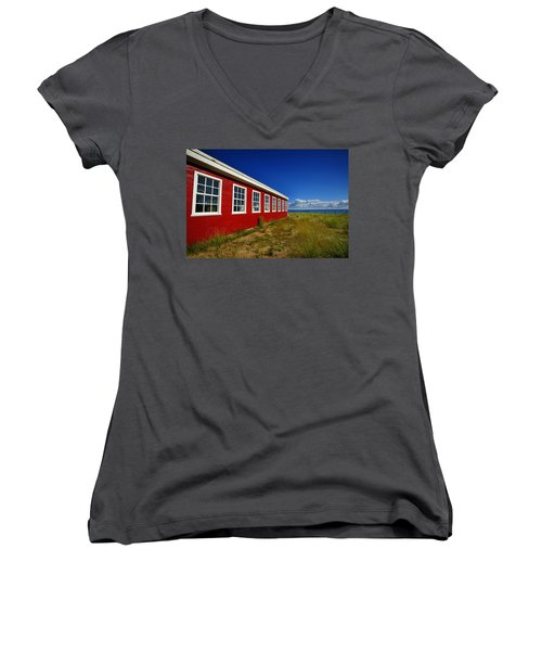 Old Cannery Building Women's V-Neck T-Shirt