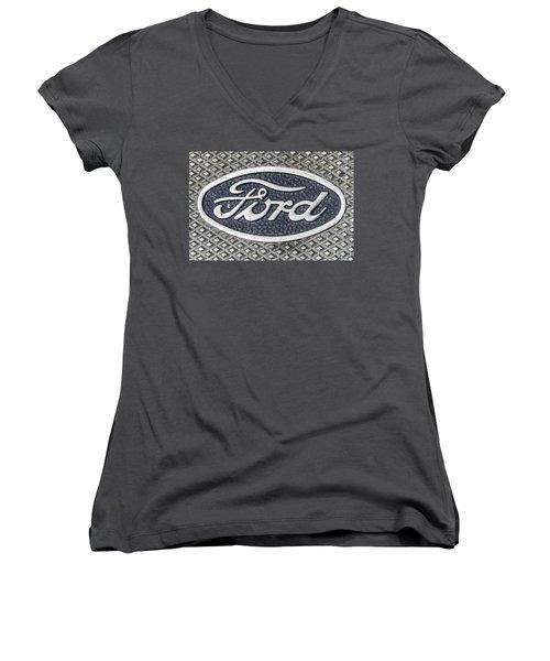 Old Ford Symbol Women's V-Neck (Athletic Fit)