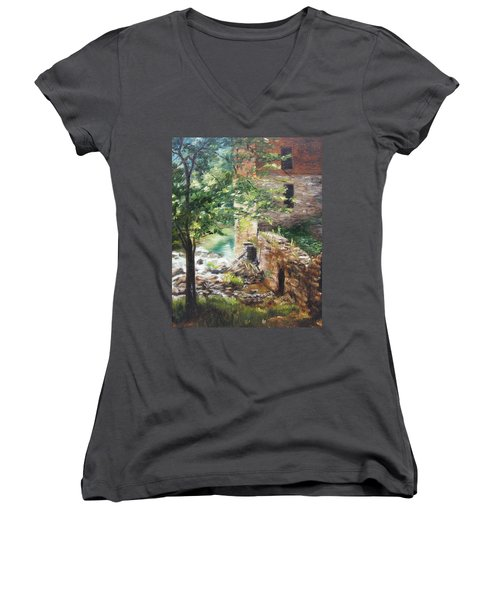 Old Mill Stream I Women's V-Neck T-Shirt