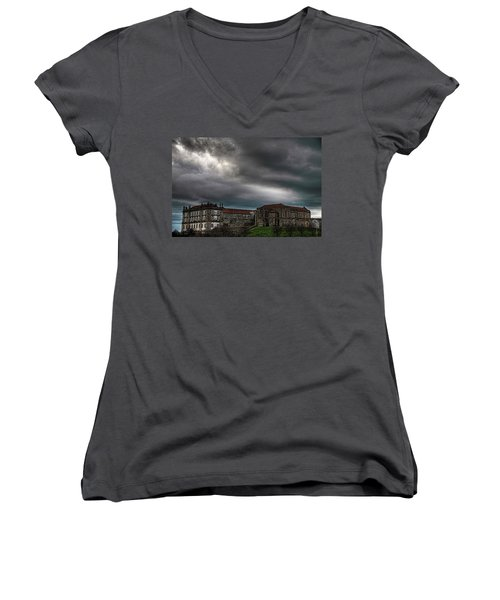 Old Monastery Women's V-Neck (Athletic Fit)