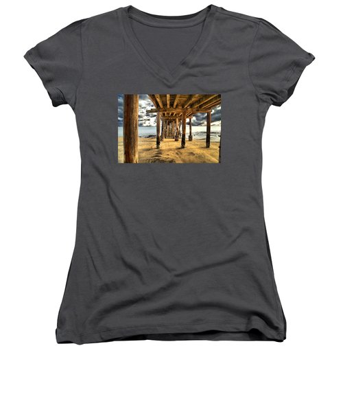 Old Pillar Point Pier Women's V-Neck T-Shirt
