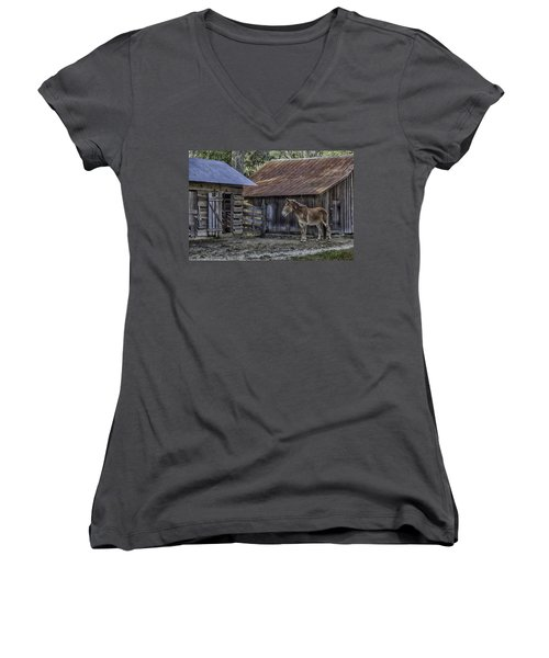 Old Red Mule Women's V-Neck T-Shirt