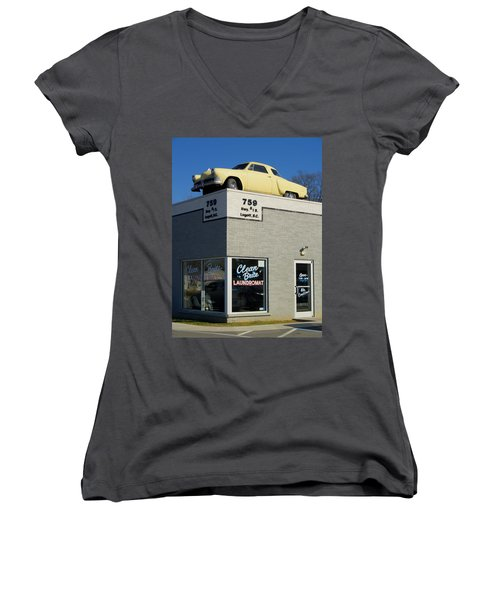 Old Studebaker Building Women's V-Neck