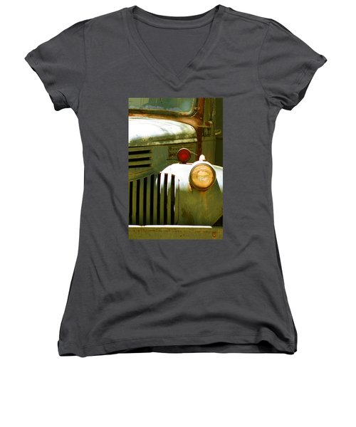 Old Truck Abstract Women's V-Neck