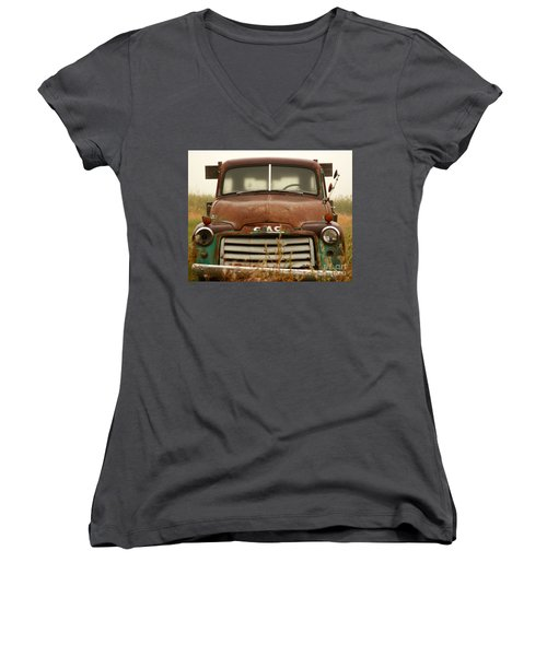 Old Truck Women's V-Neck T-Shirt