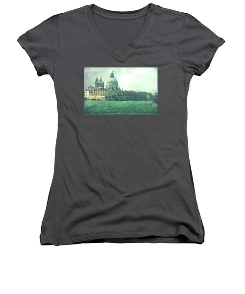 Women's V-Neck T-Shirt (Junior Cut) featuring the photograph Old Venice by Brian Reaves