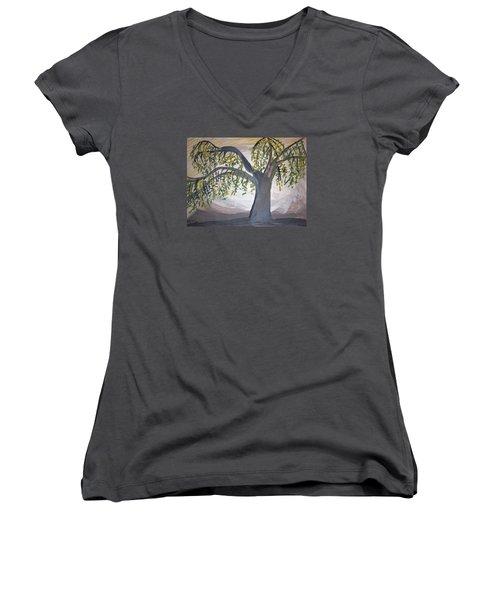 Old Willow Women's V-Neck T-Shirt