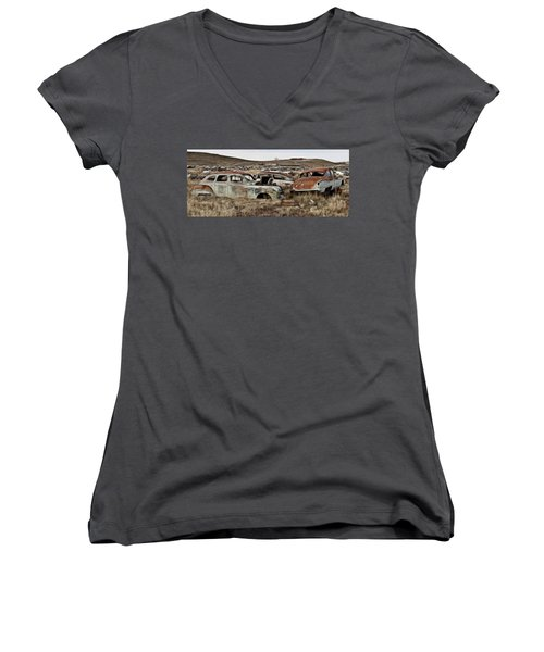 Old Wrecks Women's V-Neck