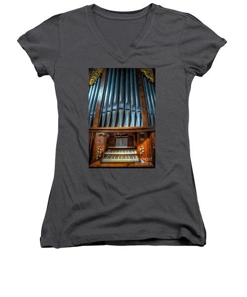 Olde Church Organ Women's V-Neck