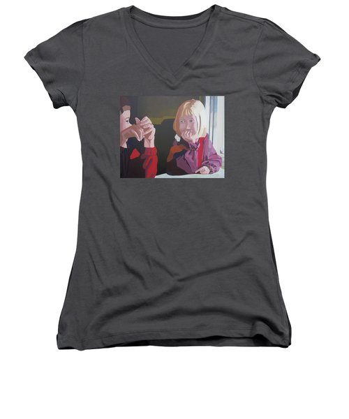 On The Train Women's V-Neck (Athletic Fit)