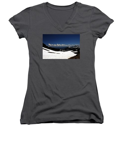 On Top Of Paradise Women's V-Neck T-Shirt