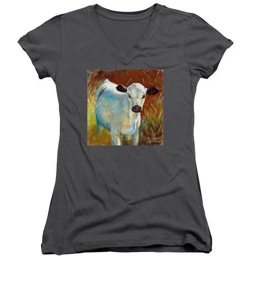 Once In A Blue Moon Women's V-Neck T-Shirt
