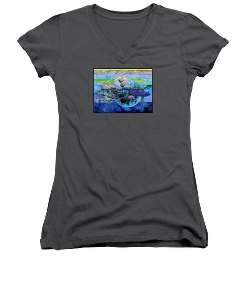 Once Upon A Time Women's V-Neck T-Shirt (Junior Cut) by John Lautermilch