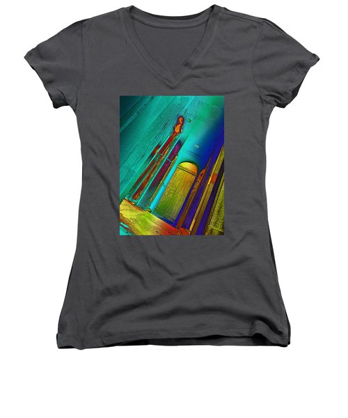 One To Many Women's V-Neck T-Shirt