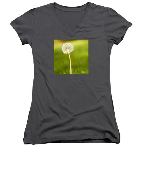 One Wish  Women's V-Neck T-Shirt (Junior Cut) by Artist and Photographer Laura Wrede