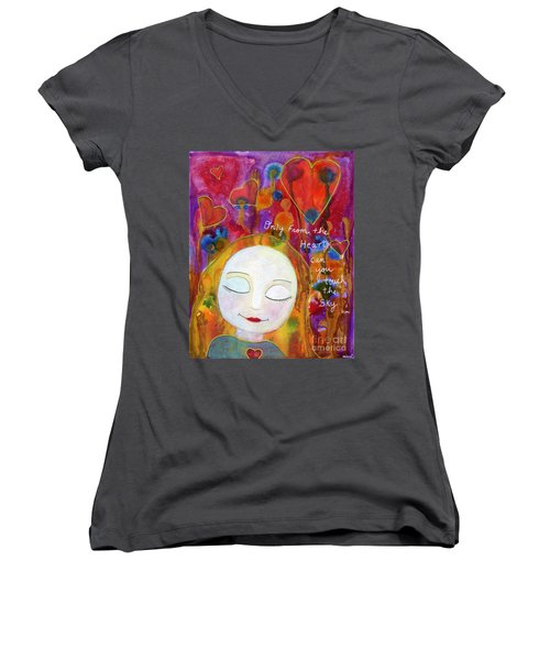 Only From The Heart Women's V-Neck (Athletic Fit)