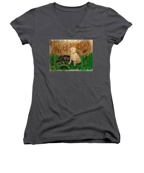 Onyx And Sarge Women's V-Neck T-Shirt