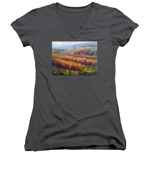 Orange Red Vines Women's V-Neck
