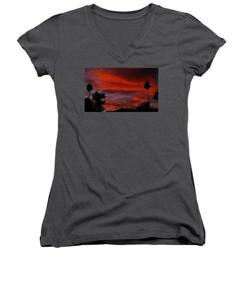 Orange Sky Women's V-Neck T-Shirt