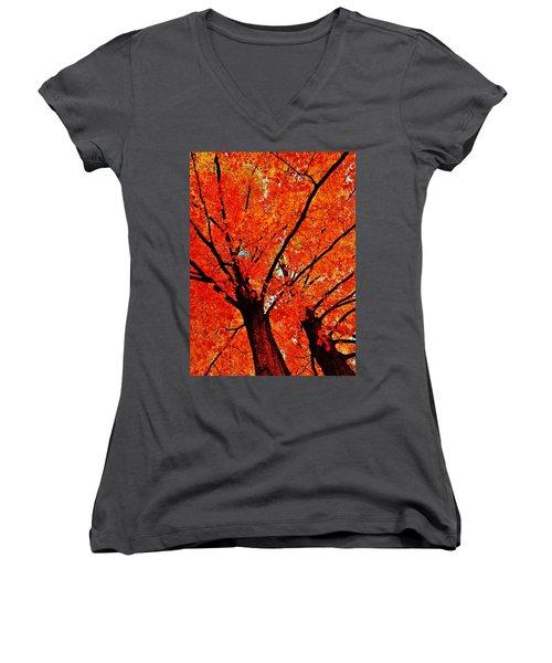 Orange...the New Green Women's V-Neck T-Shirt (Junior Cut) by Daniel Thompson