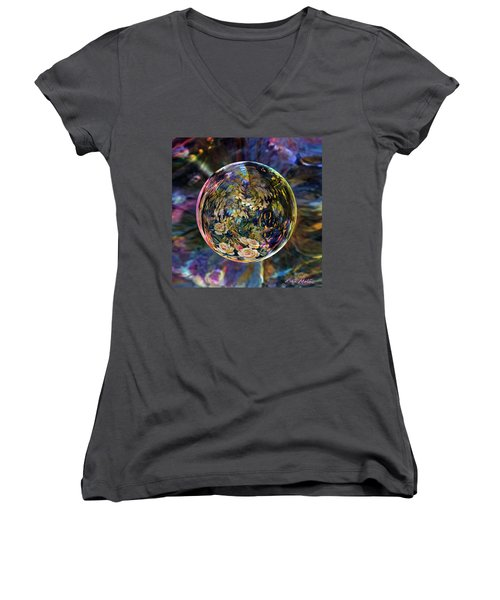 Orb Of Roses Past Women's V-Neck