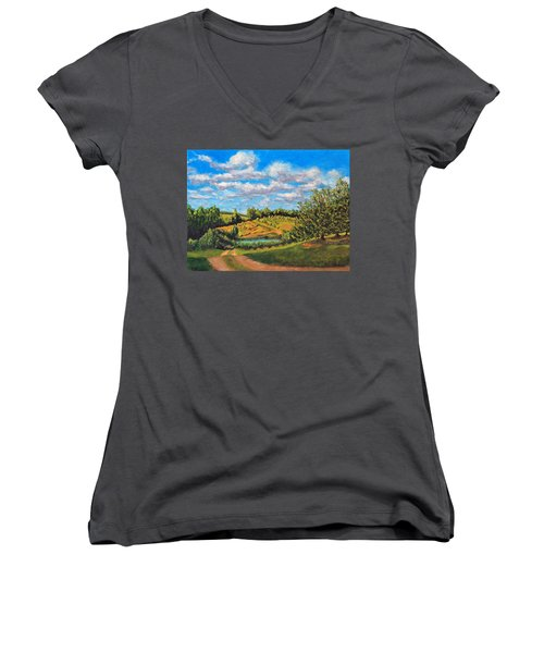 Orchard Women's V-Neck T-Shirt